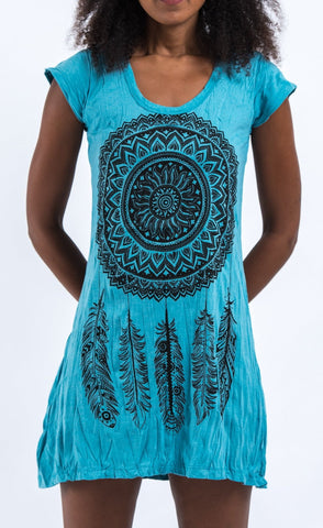 Sure Design Women's Dreamcatcher Dress Turquoise