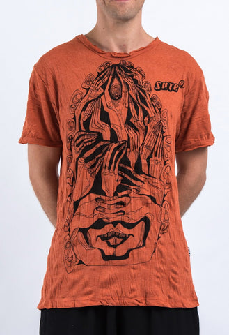 Sure Design Men's Crazy Fingers T-Shirt Orange