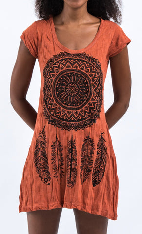 Sure Design Women's Dreamcatcher Dress Orange