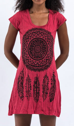 Sure Design Women's Dreamcatcher Dress Red