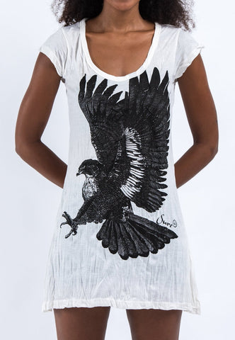 Sure Design Women's Eagle Dress White