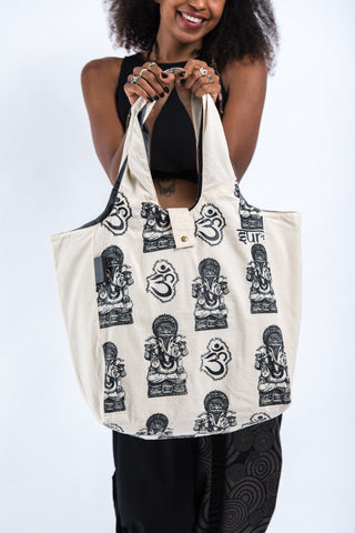 Multi Om Cotton Tote Bag