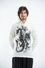 Sure Design Unisex The Dragon Hoodie White