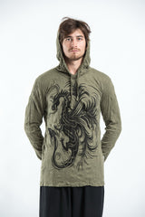 Sure Design Unisex The Dragon Hoodie Green