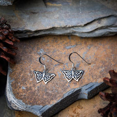 Sterling Silver Thai  Earrings Butterfly