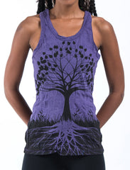 Sure Design Women's Tree of Life Tank Top Purple