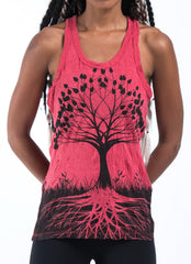 Sure Design Women's Tree of Life Tank Top Red