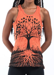 Sure Design Women's Tree of Life Tank Top Orange