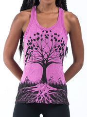 Sure Design Women's Tree of Life Tank Top Pink