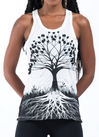 Sure Design Women's Tree of Life Tank Top White
