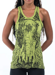 Sure Design Women's Wild Elephant Tank Top Lime