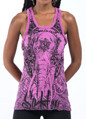 Sure Design Women's Wild Elephant Tank Top Pink