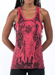 Sure Design Women's Wild Elephant Tank Top Red