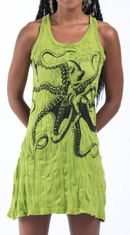 Sure Design Women's Octopus Tank Dress Lime
