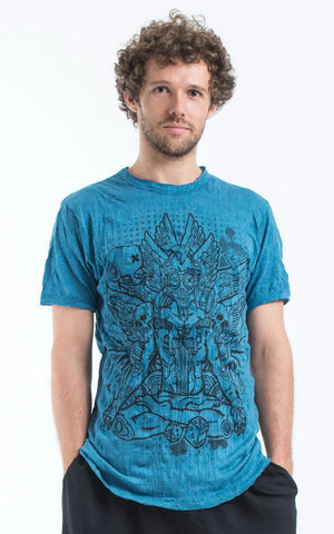 Sure Design Men's Chaos Man T-Shirt Denim Blue