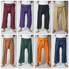 Assorted set of 5 Silky Soft Thai Fisherman Pants