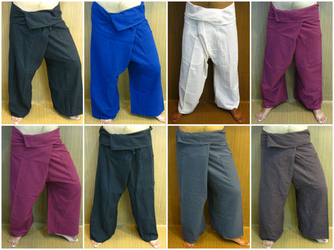 Assorted set of 10 Thai Cotton Fisherman Pants
