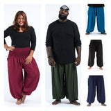 Wholesale Assorted set of 10 Plus Size Solid Color High Crotch Harem Pants - $125.00