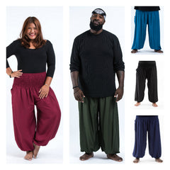 Assorted set of 10 Plus Size Solid Color High Crotch Harem Pants