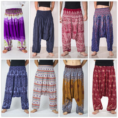 Assorted set of 5 Thai Low Crotch Harem Pants BESTSELLER