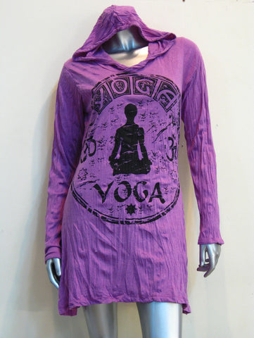 Sure Design Women's Yoga Stamp Hoodie Dress Pink