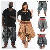 Wholesale Assorted Set of 5 Plus Size Thai Hill Tribe Fabric Harem Pants with Ankle Straps - $70.00