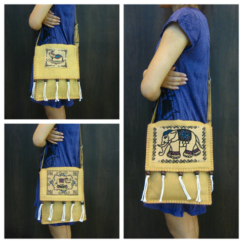 Assorted set of 5 Thai HandMade Shoulder Bags