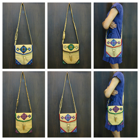 Assorted set of 5 Thai HandMade Hill Tribe Bags