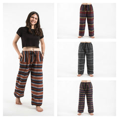 Assorted Set of 5 Hill Tribe Cotton Unisex Pants