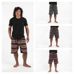 Assorted Set of 5 Hill Tribe Cotton Capri Shorts
