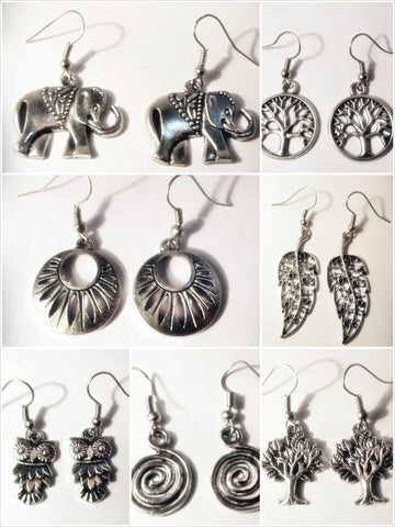 Assorted set of 10 Thai Hand Made Earrings