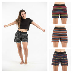 Assorted Set of 5 Hill Tribe Cotton Shorts