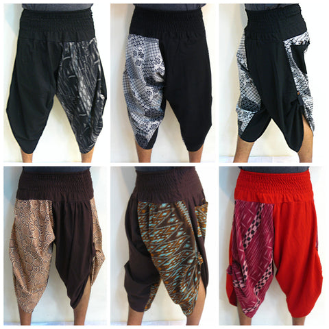 Assorted set of 5 Super Cool and Very Flexible Cotton Genie Pants Low Crotch