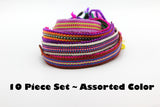 Wholesale Assorted 10 Piece Set Hand Made Thai Cotton Woven Loomed String Friendship Bracelet - $15.00