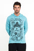 Sure Design Unisex Octopus Oracle Hoodie Turquoise