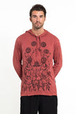 Wholesale Sure Design Unisex Octopus Chakras Hoodie Brick - $12.00