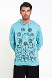 Wholesale Sure Design Unisex Octopus Chakras Hoodie Turquoise - $12.00