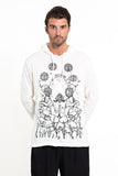 Wholesale Sure Design Unisex Octopus Chakras Hoodie White - $12.00