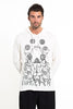 Sure Design Unisex Octopus Chakras Hoodie White