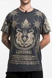 Wholesale Mens Twin Tigers Tattoo T-Shirt in Black - $9.00