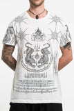 Wholesale Mens Twin Tigers Tattoo T-Shirt in White - $8.50