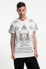 Mens Twin Tigers Tattoo T-Shirt in White