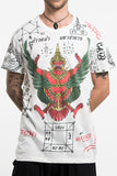 Wholesale Mens Garuda Tattoo T-Shirt in White - $9.00