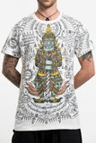 Wholesale Mens Big Guardian Demon Tattoo T-Shirt in White - $8.50