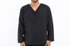 Mens V Neck Yoga Shirts in Black