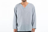 Wholesale Mens V Neck Yoga Shirts in Gray - $9.00