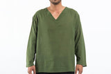 Wholesale Mens V Neck Yoga Shirts in Olive - $9.00