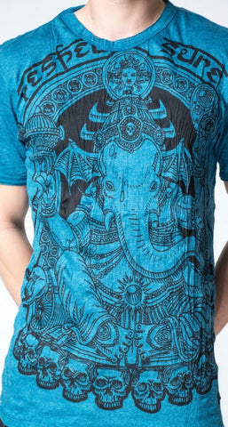 Sure Design Men's Batman Ganesh T-Shirt Denim Blue