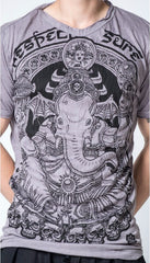 Sure Design Men's Batman Ganesh T-Shirt Gray