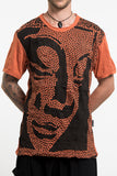 Wholesale Sure Design Men's Big Buddha Face T-Shirt Orange - $8.50